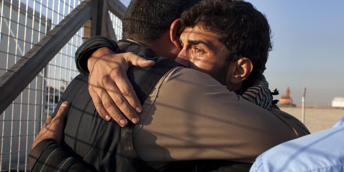 استجابة لإعلان قوات الأمن العراقية يوم 9 تموز/يوليو 2017 إستعادة مدينة الموصل من تنظيم داعش