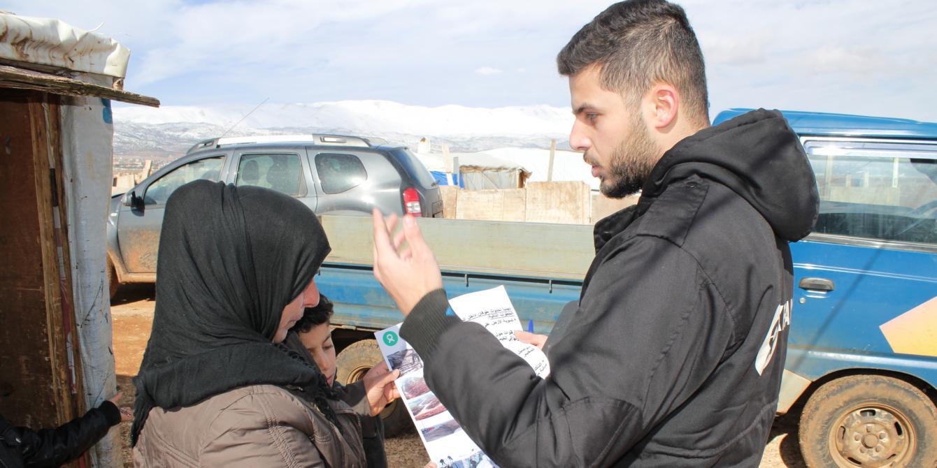 منظمة أوكسفام تساعد في التصدي للعاصفة في لبنان