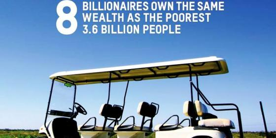 أوكسفام: ثروة أغنى 8 أشخاص في العالم تعادل ما تملكه نصف البشرية