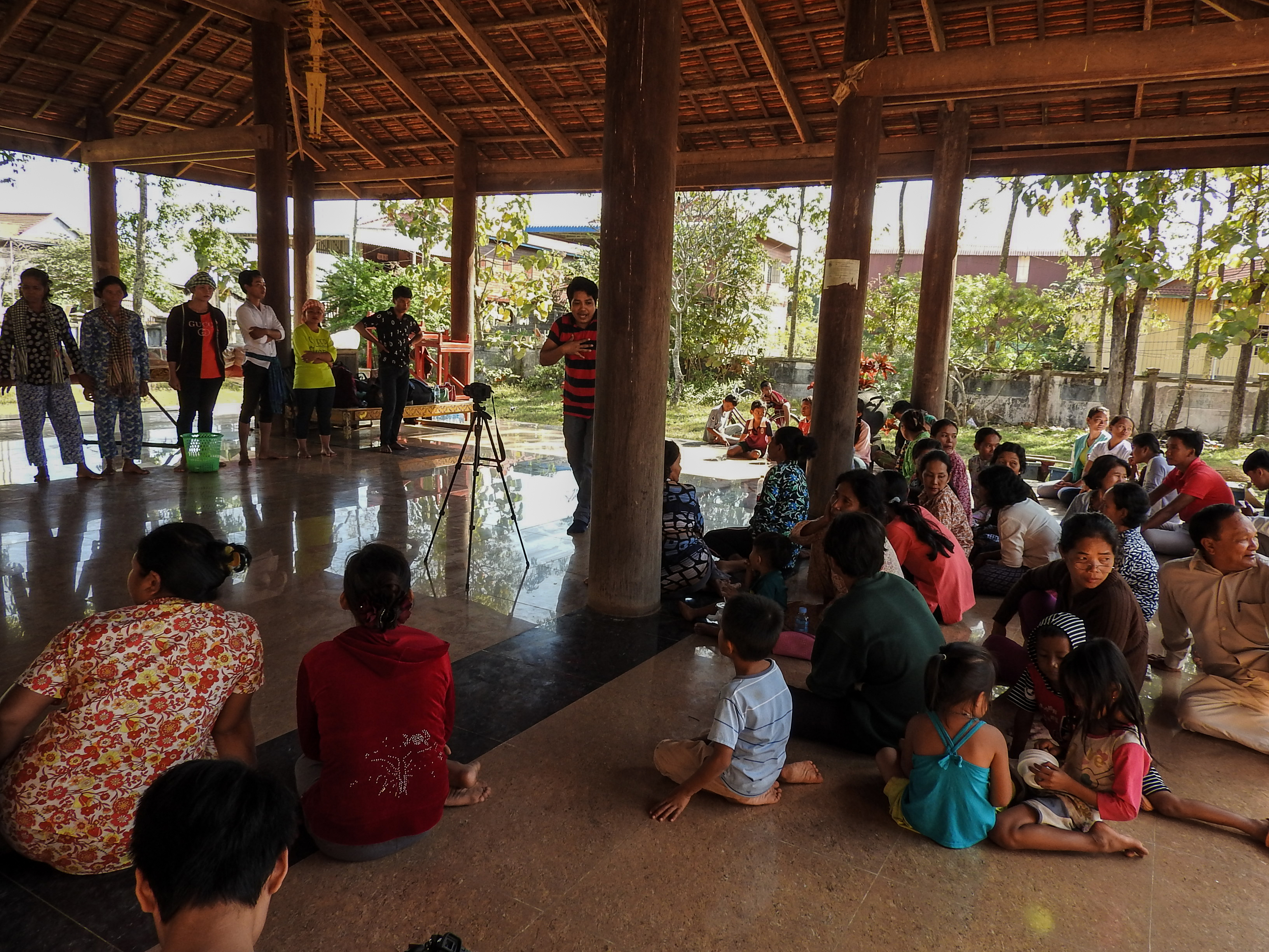 Jokers shared the forum theatre with community in Sambo district of Kratie province, Cambodia.