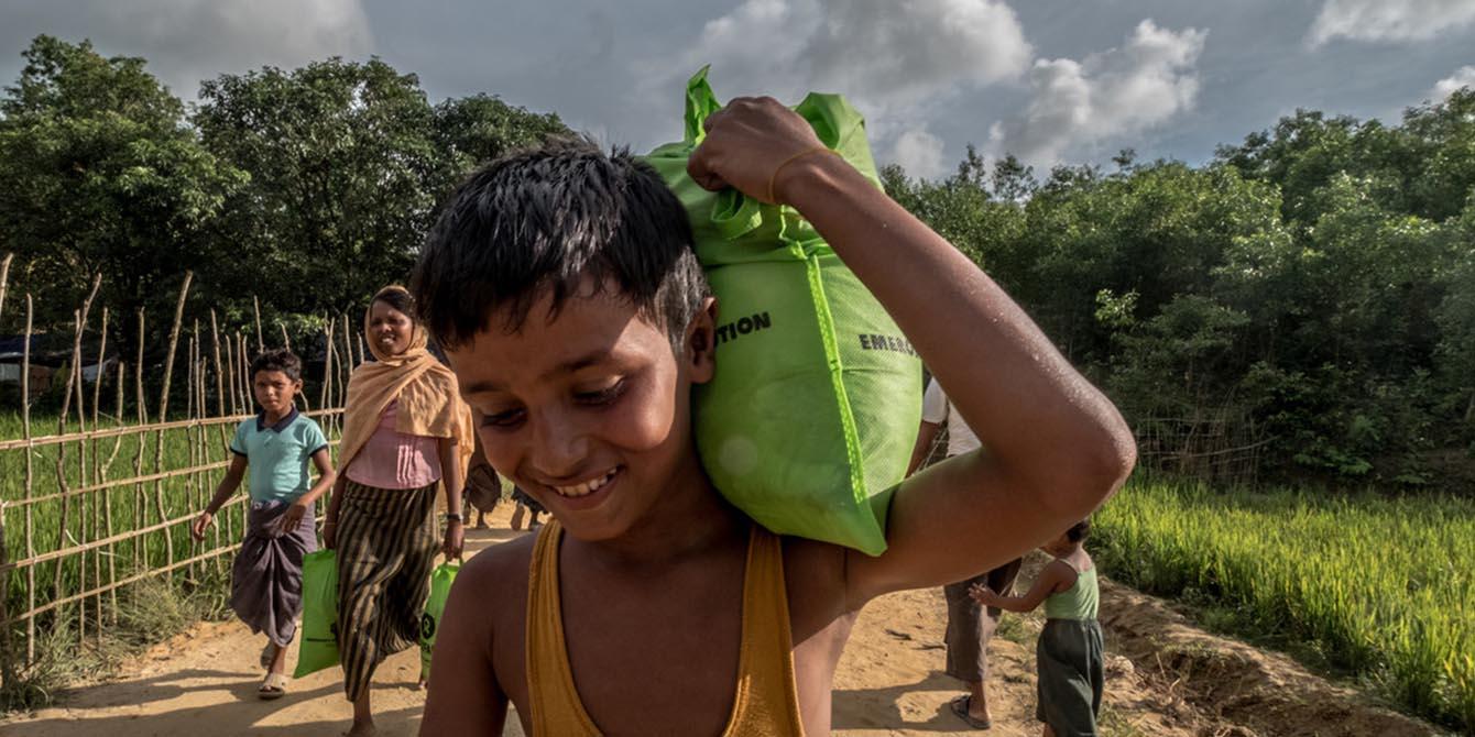 Oxfam in Asia - Bangladesh Rohingya Refugee Crisis - Oxfam Food Parcel