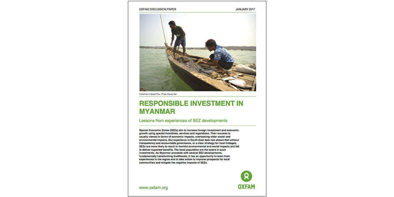 Oxfam in Asia - Publications - Myanmar - Responsible Investment in Myanmar
