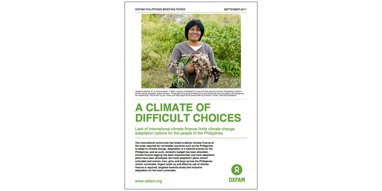 Oxfam in Asia - Philippines - A Climate of Difficult Choices