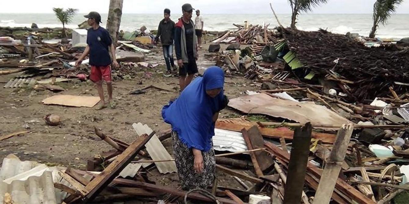 Indonesia Sunda Strait Tsunami Aftermath