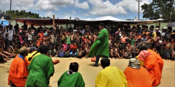 Bangladesh - Rohingya Crisis - Refugee Children Enjoy Rare Moment of Laughter