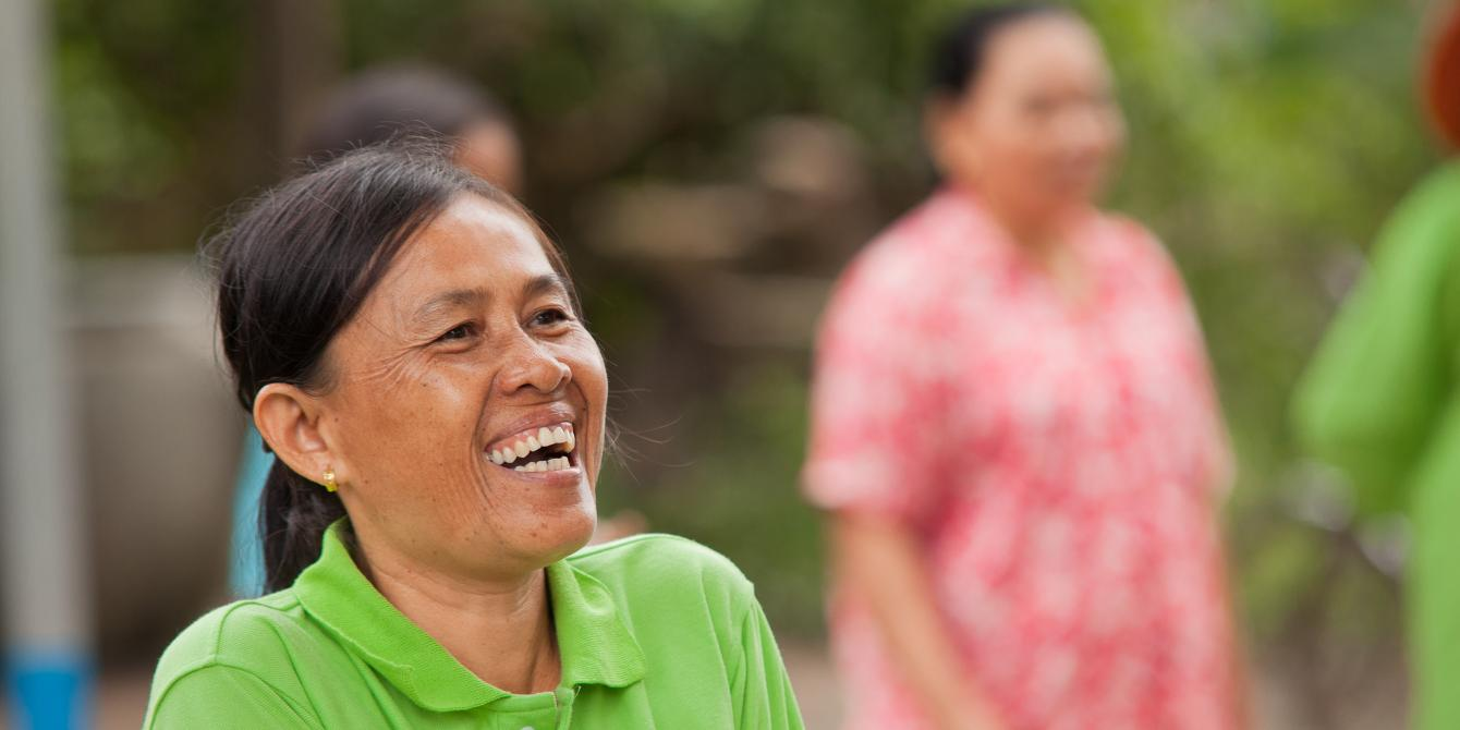 In Cambodia transplanting seeds is a job traditionally done by women. With the income earned from their transplanting seed business and more support from Oxfam, these women also created a micro credit group to help community members in need.