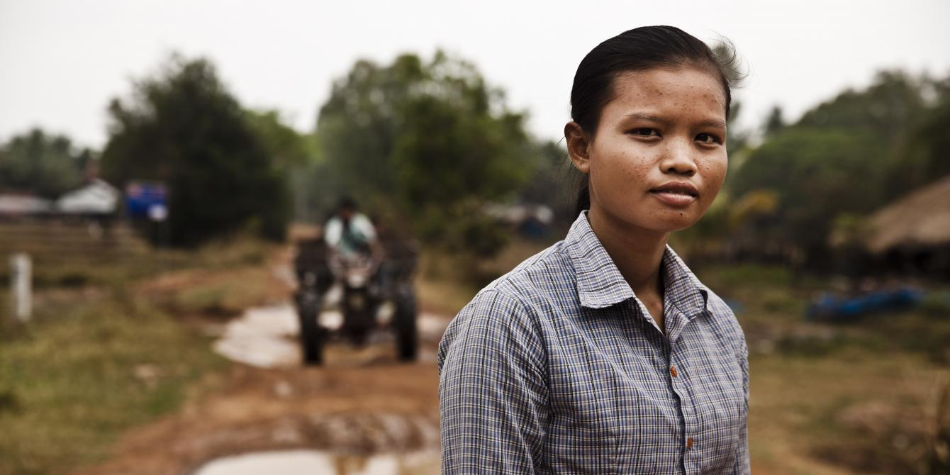 San Aemm, 21, aspires to become a teacher, and is saving money in her Saving for Change group in Oddar Meanchey province to pay for university.