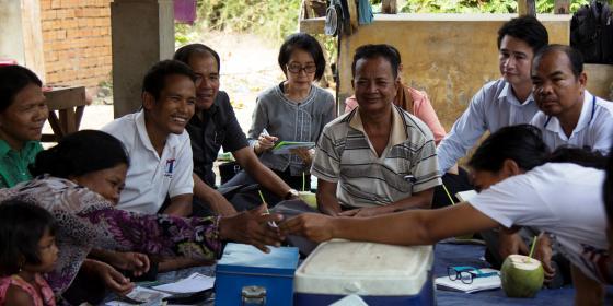 MRD visits Saving for Change target areas