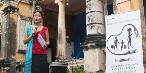 Solinn Lim, Oxfam Cambodia Country Director, JuiKnia launch