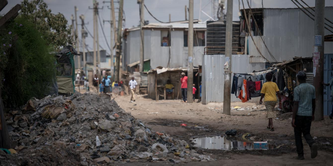 Poor drainage, waste management and poor road conditions are some of the problems faced by the community in most of Nairobi's slums. Allan Gichigi / Oxfam