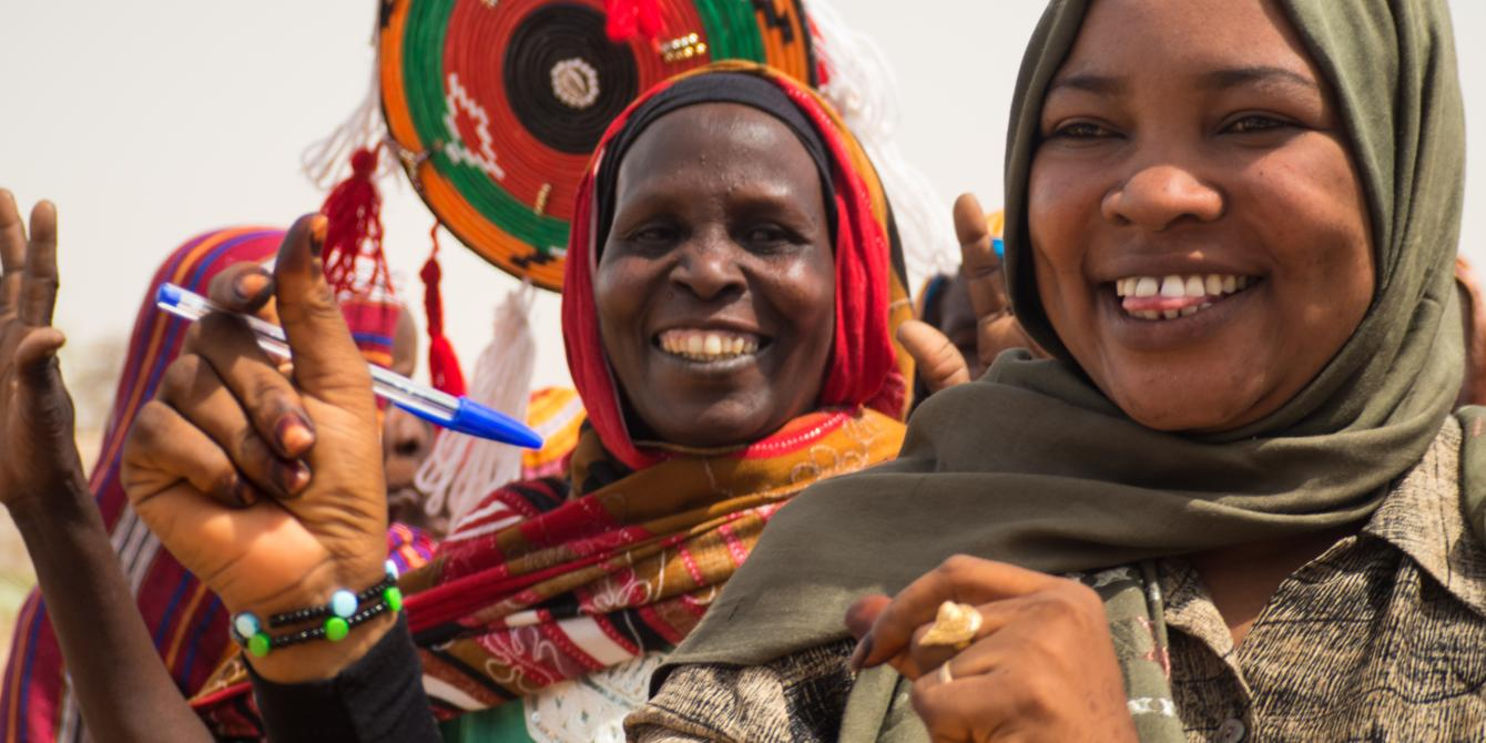 Local women from Sudan's Darfur region who are part of Oxfam's project on women economic empowerment. Elizaebth
