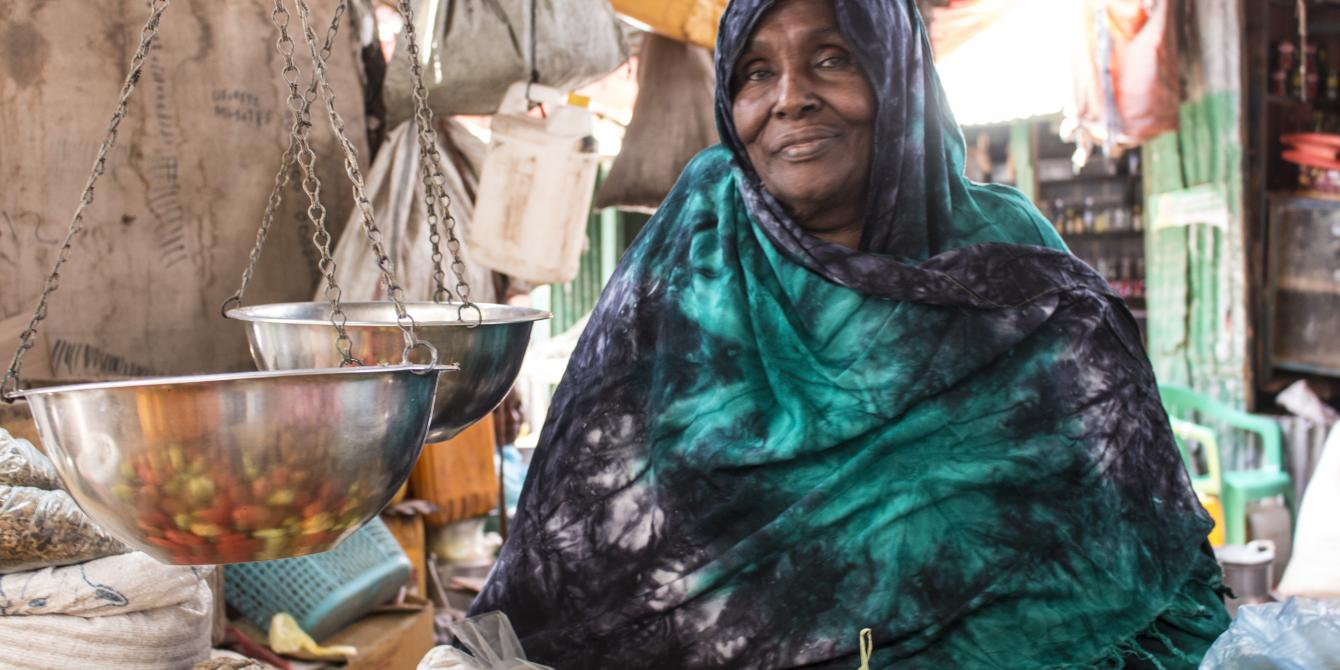 Fadumo in her shop in Hargeisa. AbdiAziz Adani/Oxfam