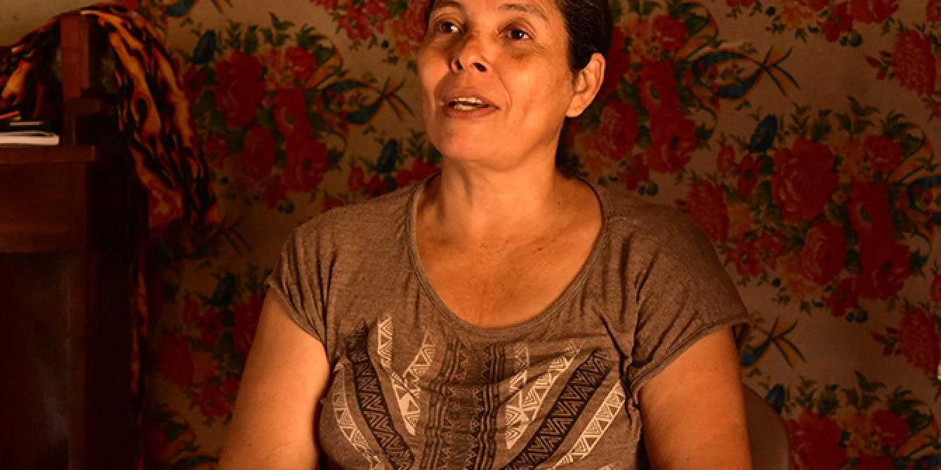 María Magdalena ha conquistado una meta personal al establecer una panadería con el apoyo de Oxfam y Cáritas Comayagua. Foto: Karen Arita / Oxfam en Honduras