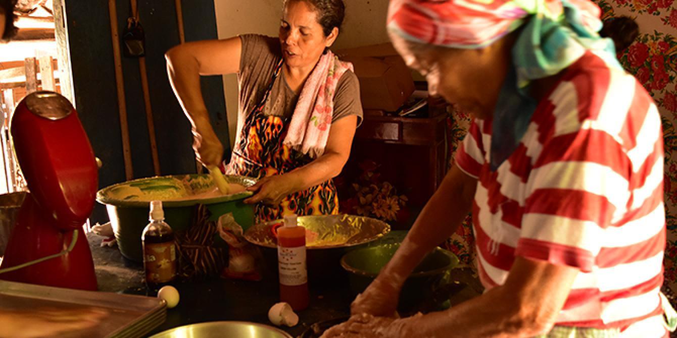 María Magdalena participó el en proyecto de microemprendiemientos juntos a 30 mujeres y jóvenes embarazas.