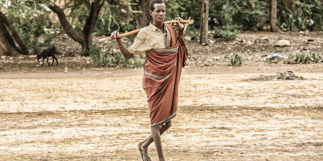 Nakaale Lopodo 22, a resident of Lokichar in Turkana County Northern Kenya. Photo Credit/Jeremy Mutiso