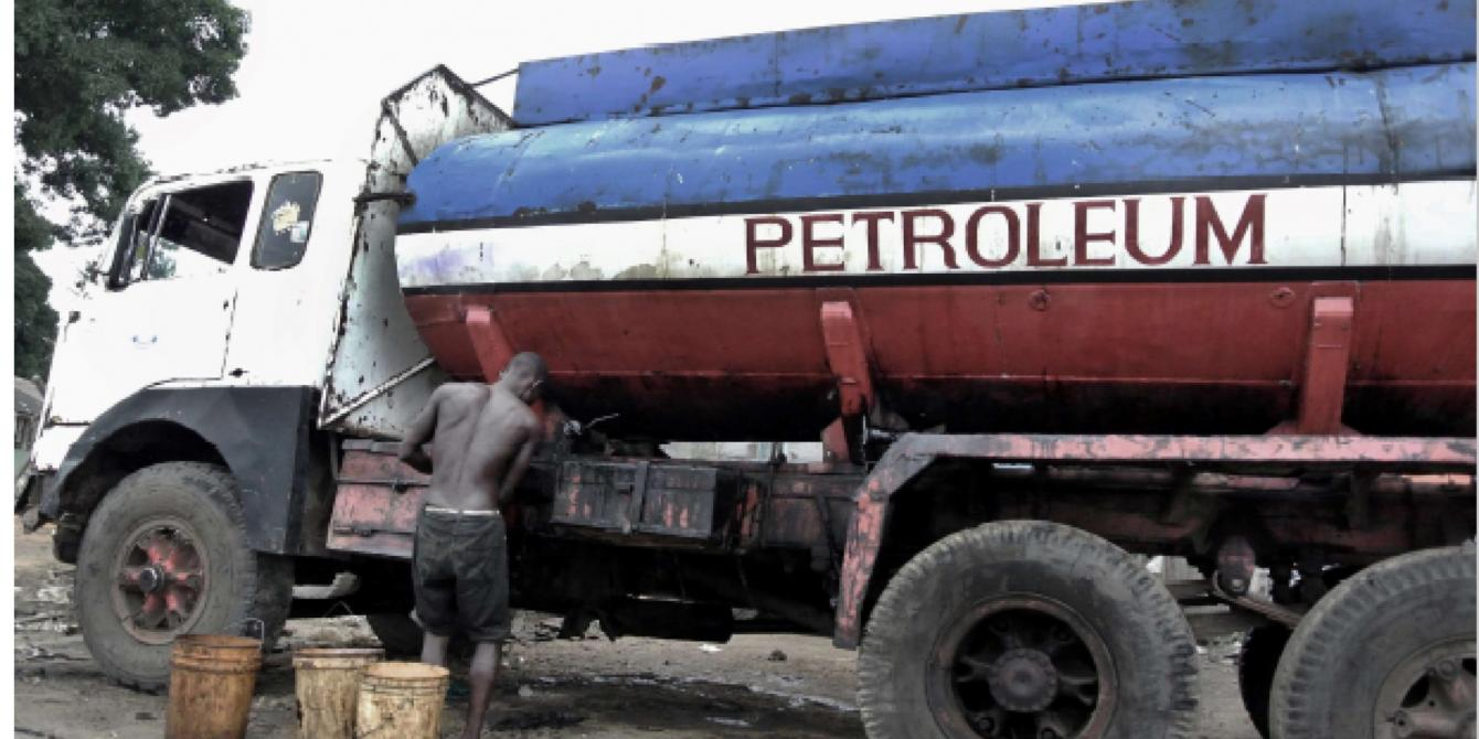 Absent a pipeline, oil in Kenya is moved by trucks in a costly transport scheme.