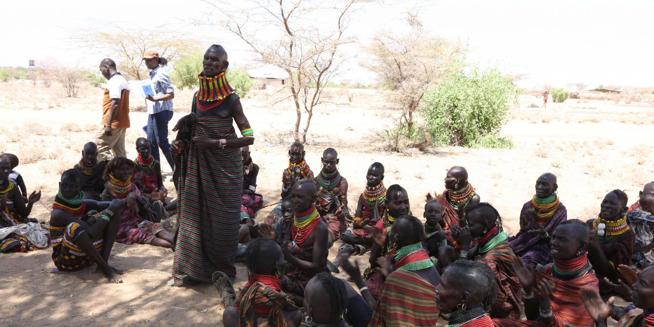Community meeting on oil and gas in Lokichar, Turkana. Photo Credit: LightBox Limited