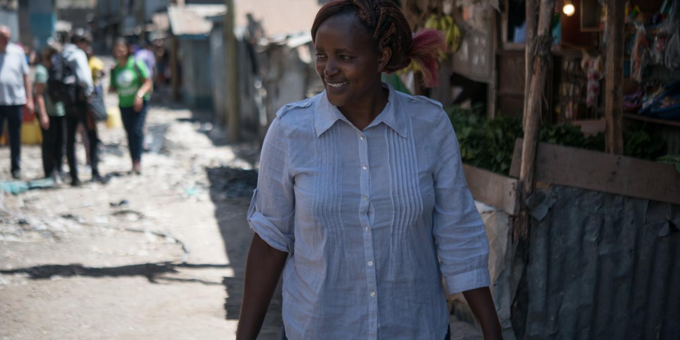 Veronica Nthenya, a domestic worker in a Mukuru informal settlement in Nairobi, Kenya. Photo Credit: Allan Gichigi