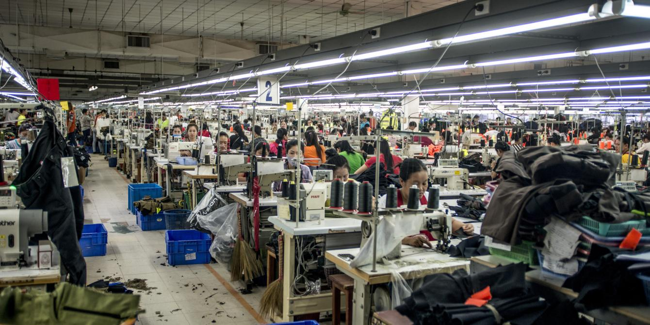 Garment factory in Vientiane, Laos