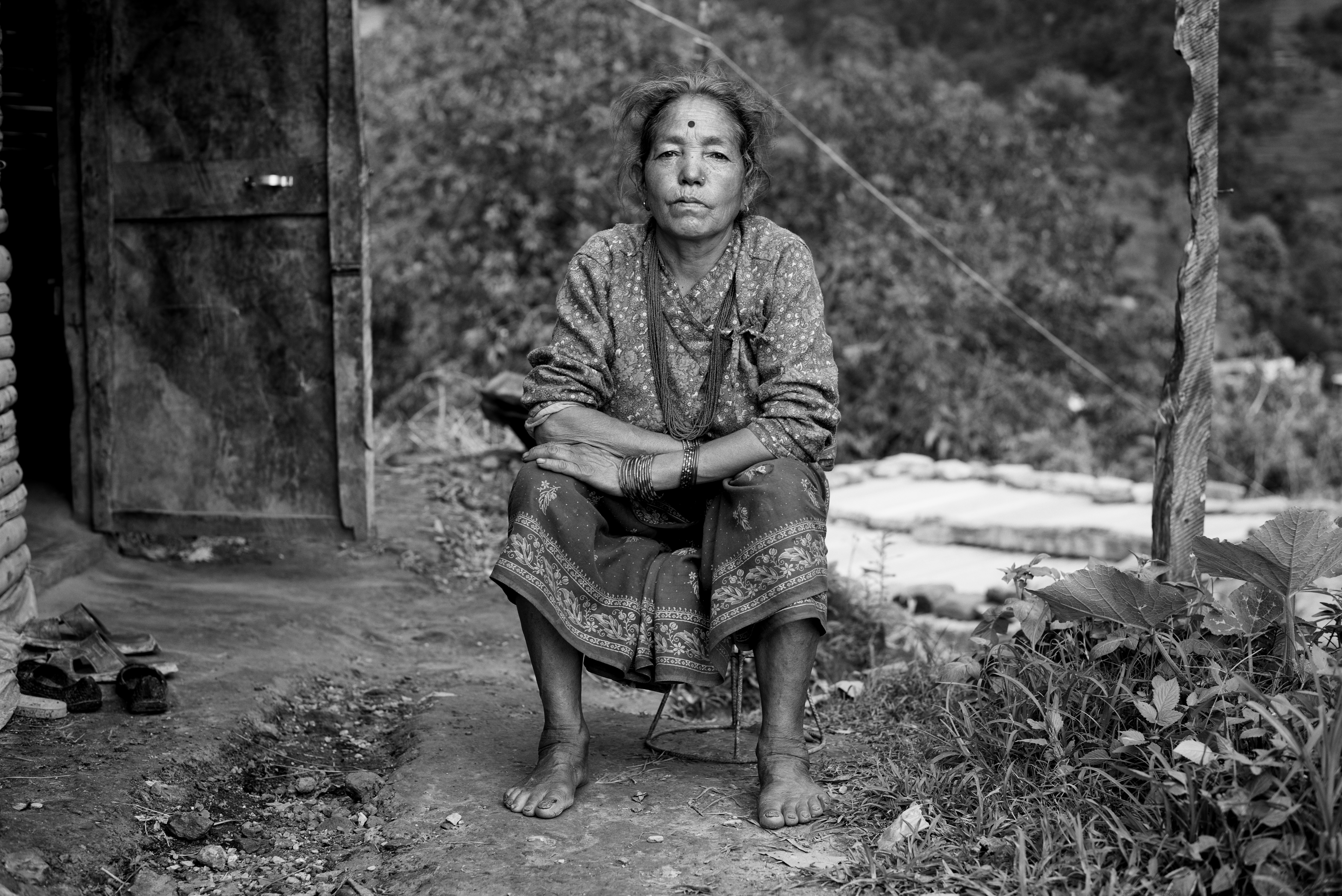 This widow from Chandragiri has no land documents and feels insecure as an illegal settler - Credit: Martin Grahovski/Oxfam