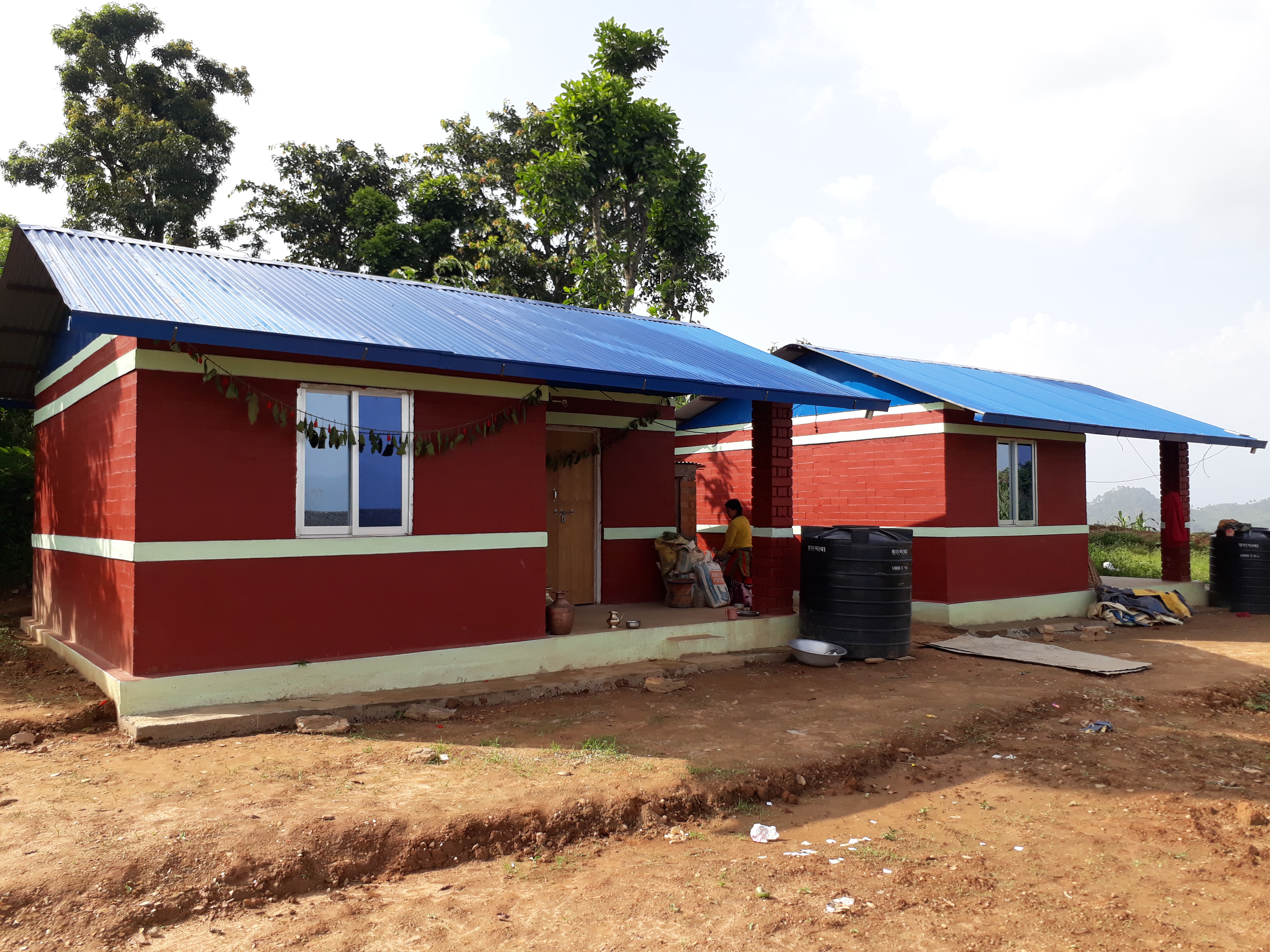 House for earthquake survivor in Nepal
