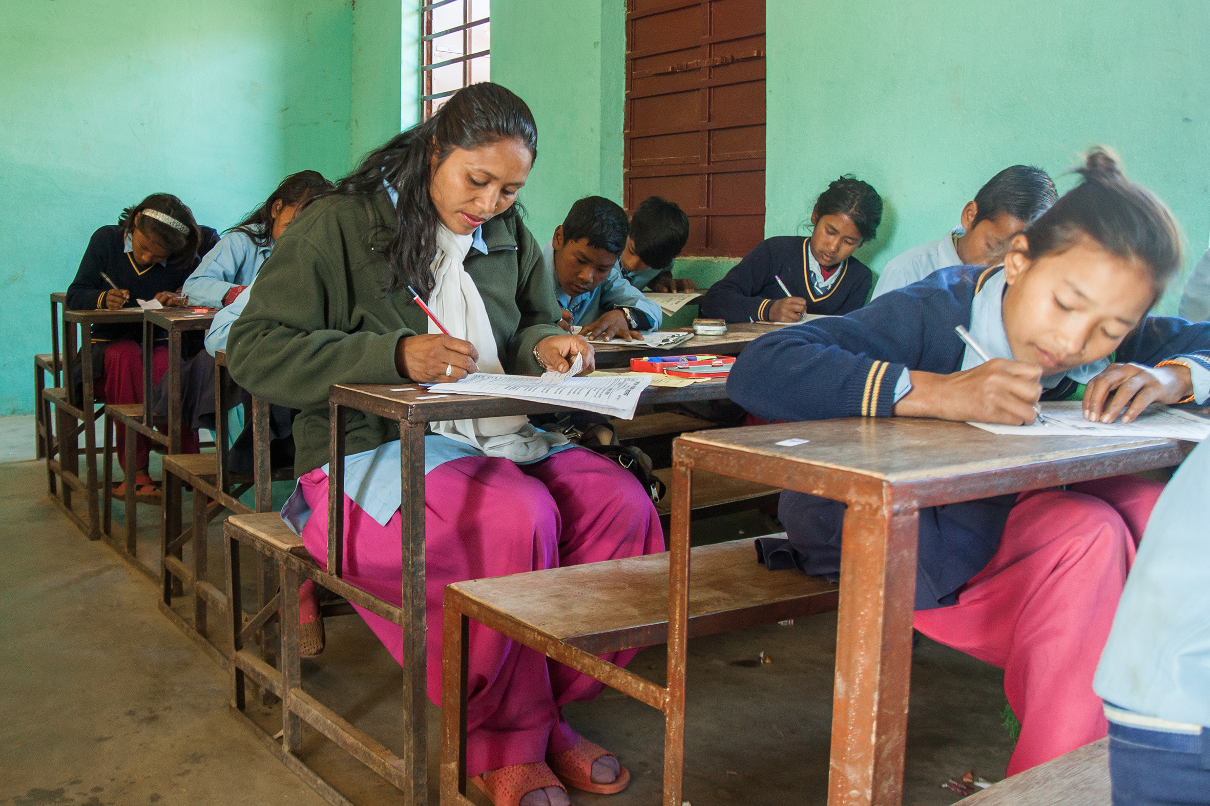 One of the women who met the President is woman leader Saraswati Deula, from Makwanpur, who went back to school to complete her studies - Credit: Amuse Communication/Oxfam