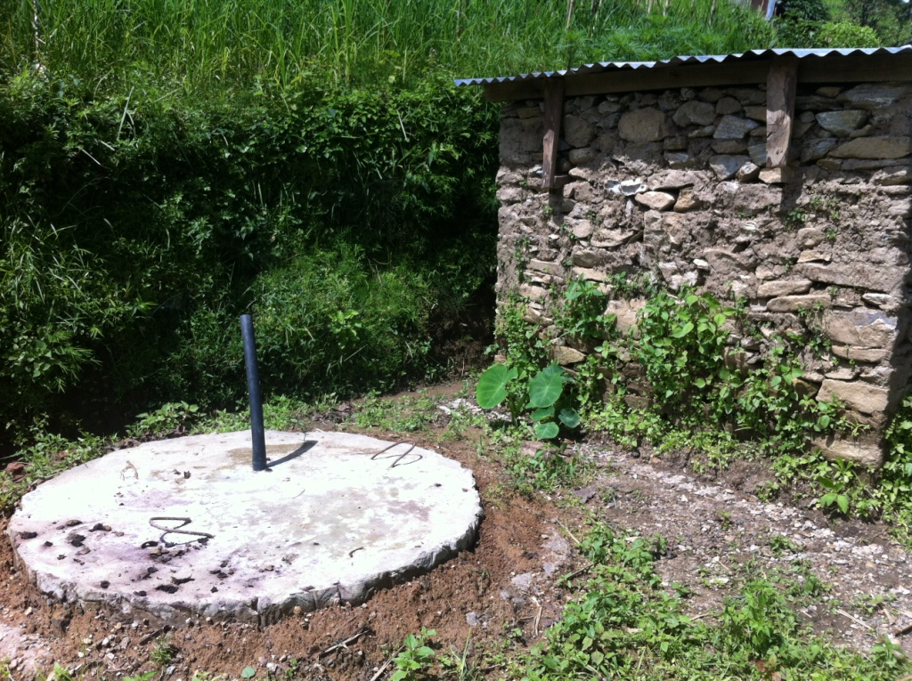 Septic tank constructed next to Taman's toilet