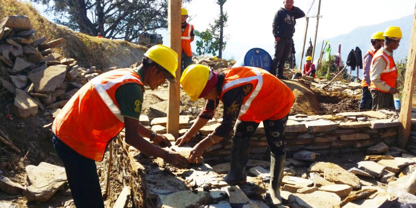 Mason training in Gorkha
