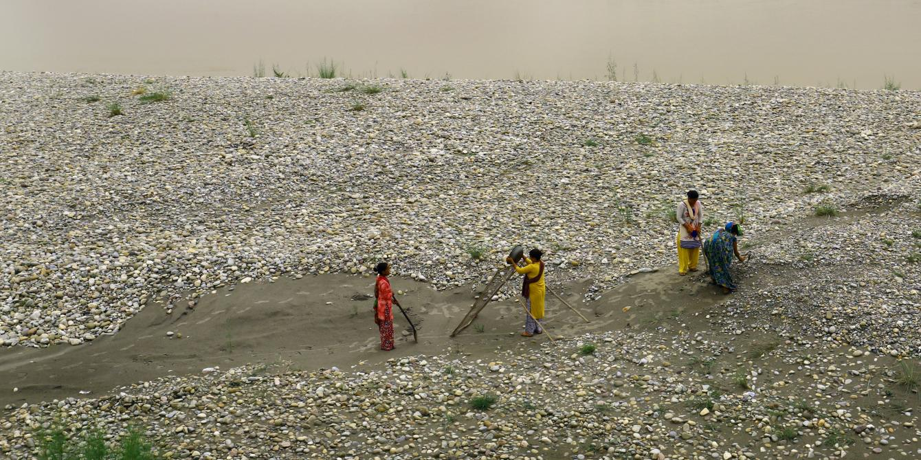 Women in Kanchanpur dependent for livelihood on sand mining.