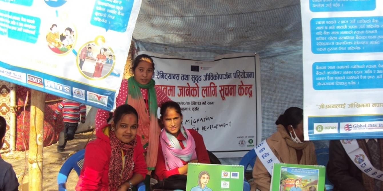 Awareness raising at the Indian border during Migration Day - Credit: Oxfam