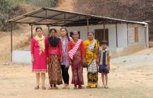 Members at the newly constructed Women's Centre in Khoplang, Gorkha - Credit: WHR/Oxfam