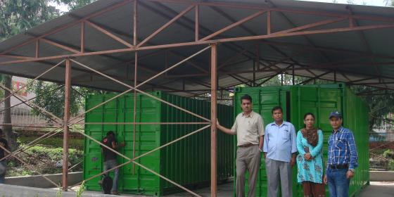 Stock pile emergency items stored at Tribhuvan University proved essential after the April 2015 earthquake - DDR Team/Oxfam