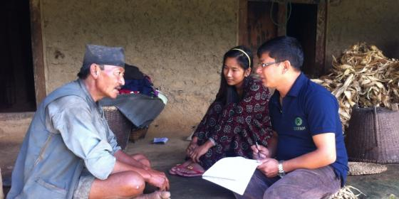 Oxfam and partners discuss the importance of constructing toilets in Nuwakot