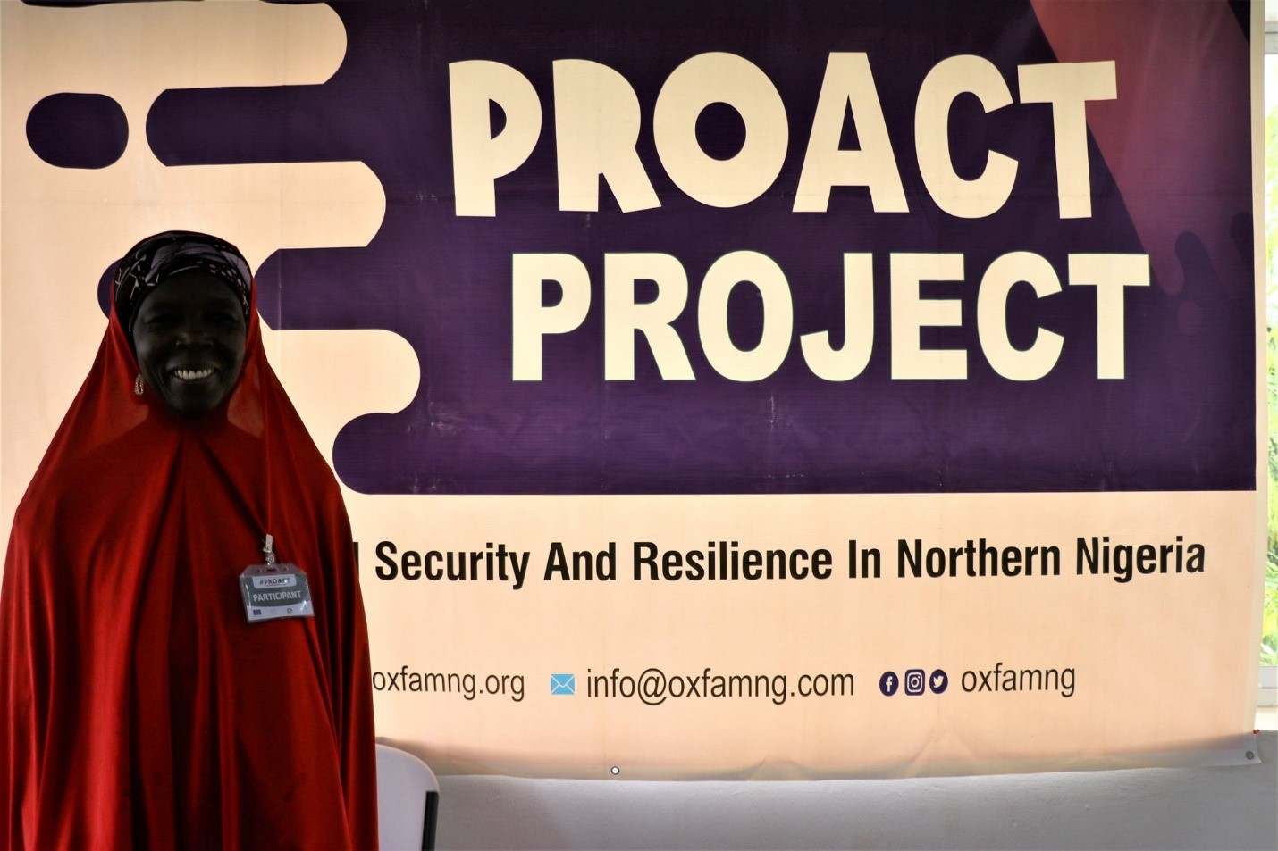 Balkisu Antaru, beneficiary of Oxfam's village savings and loans scheme
