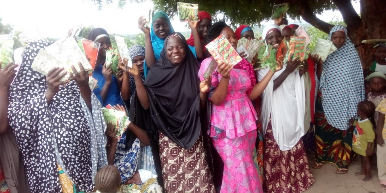 Home garden seeds – Spinach, Okro, Hibiscus, Moringa, Tomatoes and Pepper- distributed to Yelwa and other nutrition beneficiaries