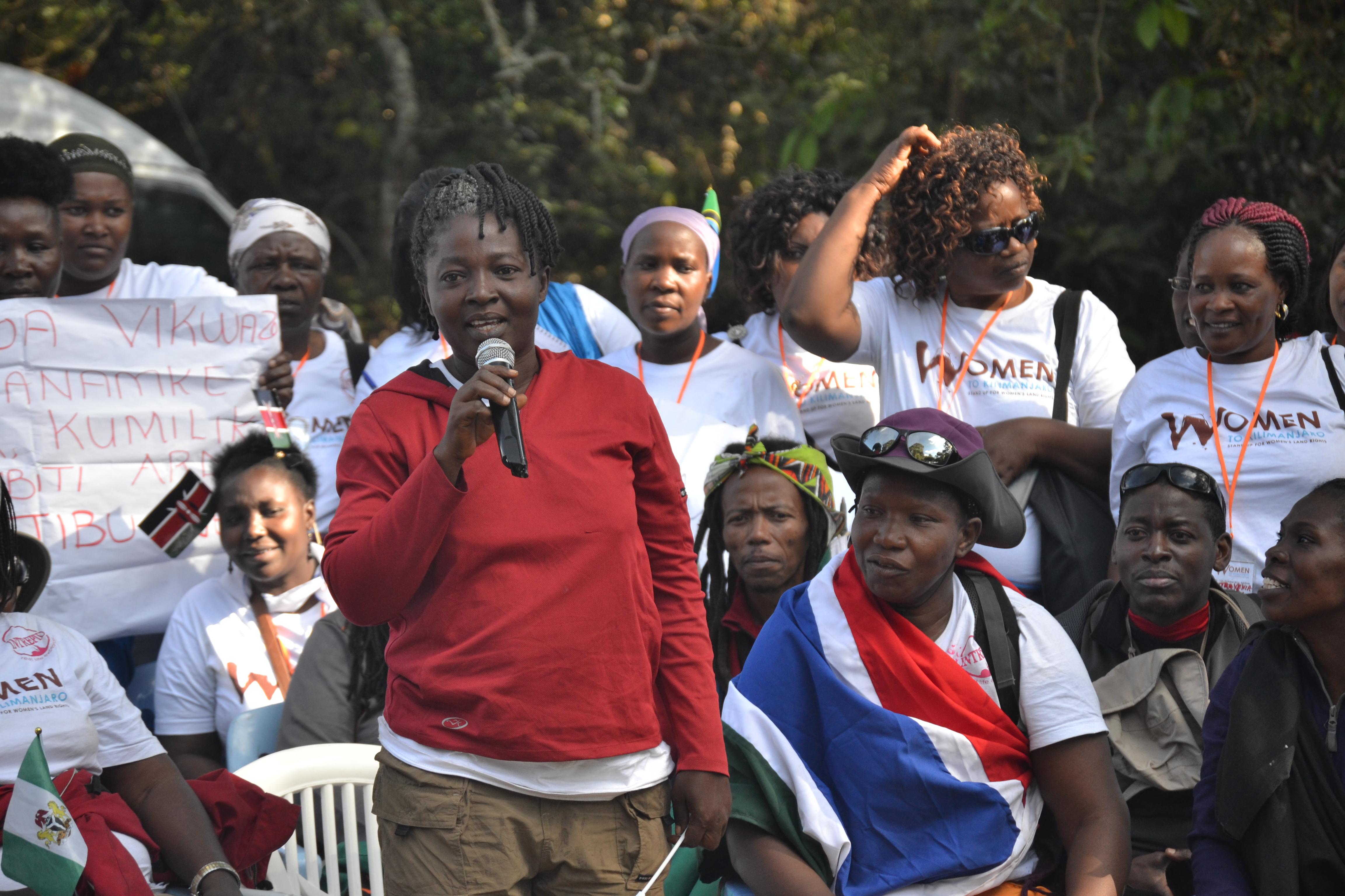 Ejima with other Kilimanjaro women land rights activists