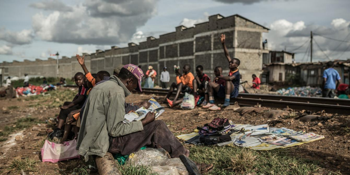 Business in Kibera slum