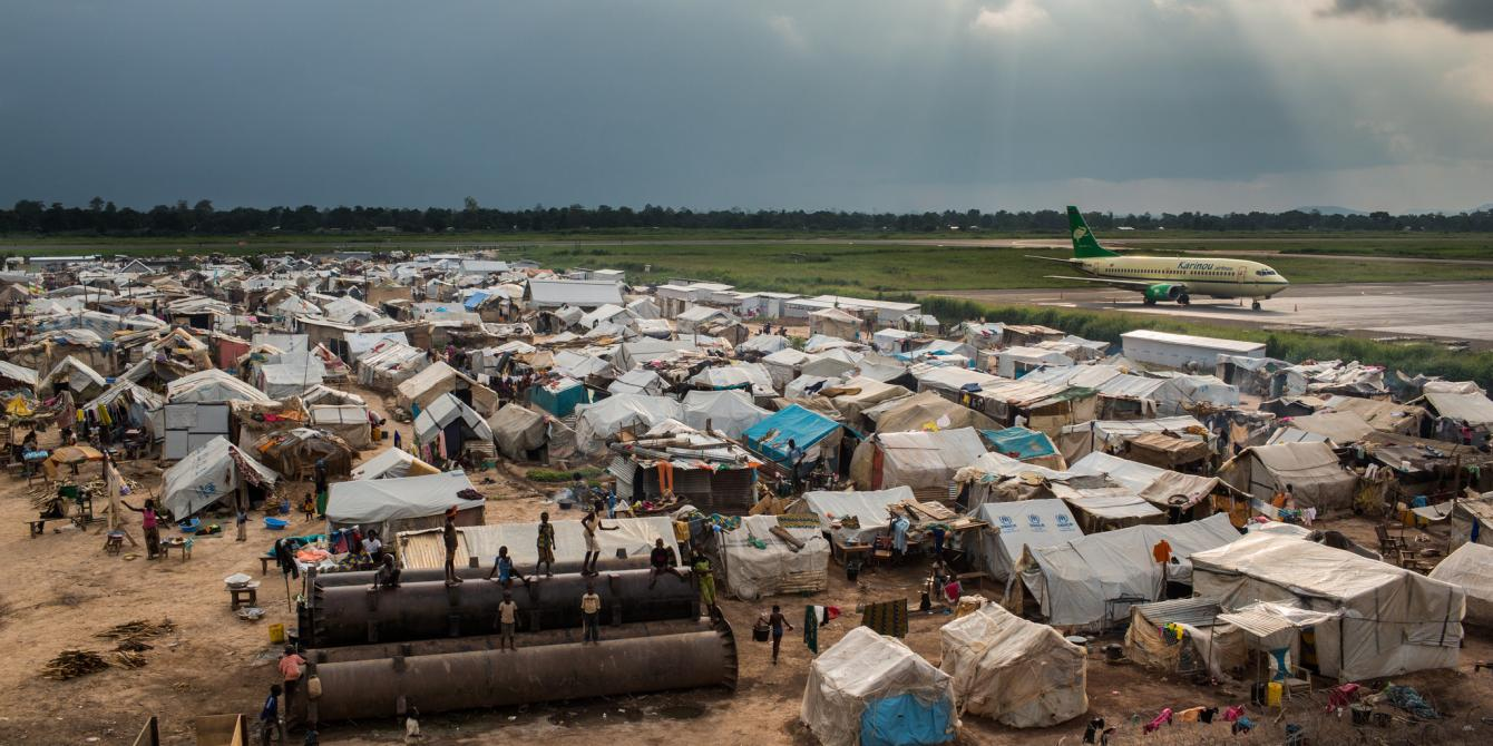 Central Africa Republic refugee camp