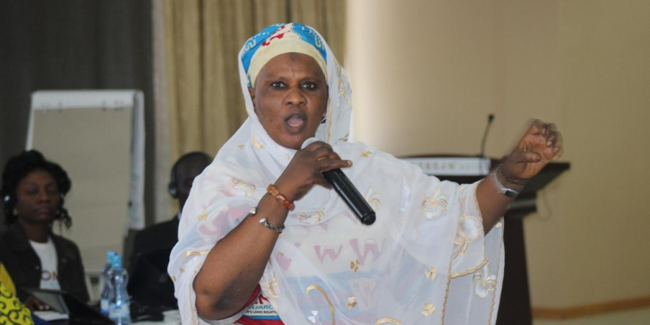 Fatou Trawally, member of the Chad based Rural Women Assembly participating in Kilimanjaro Women Land Rights Initiative Meeting