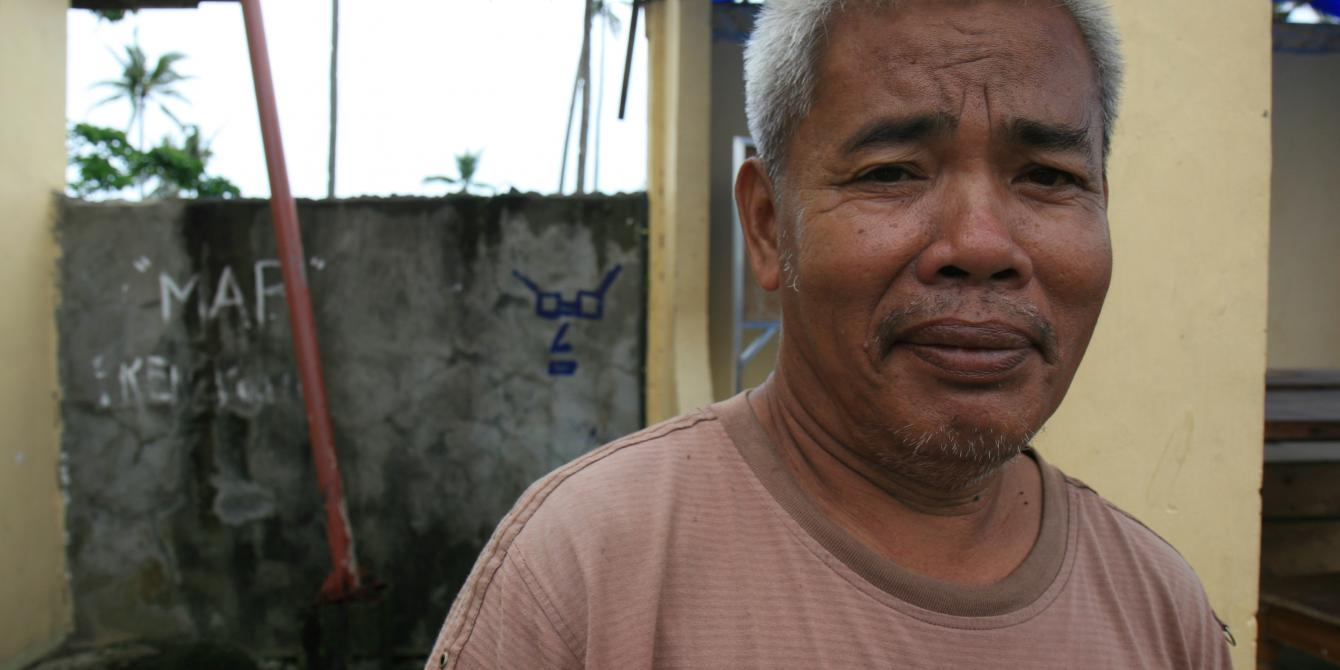 Francisco Villamor a portrait. (Photo: Jane Beesley/Oxfam)