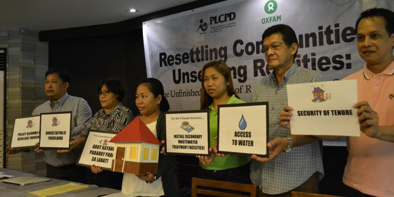 Yolanda stakeholders in Tacloban alarmed over water access and sanitation concerns in government housing program