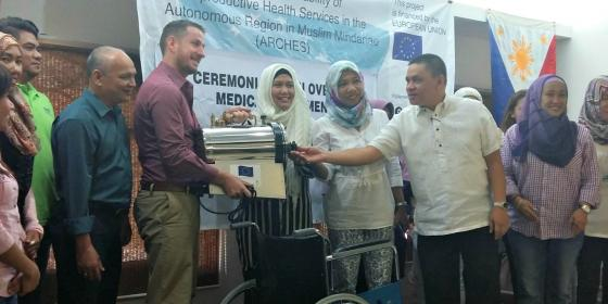 Oxfam and EU through ARCHES Project donates P4 million worth medical equipment to benefit 14 ARMM cities and municipalities (Photo: Oxfam)