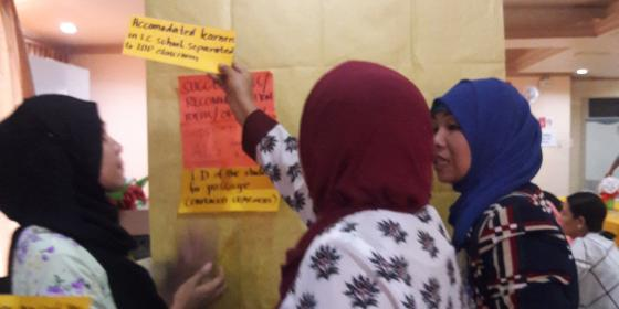 Women write their visions for better recovery of the educational institutions of Marawi