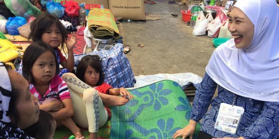 Marawi evacuees, volunteer