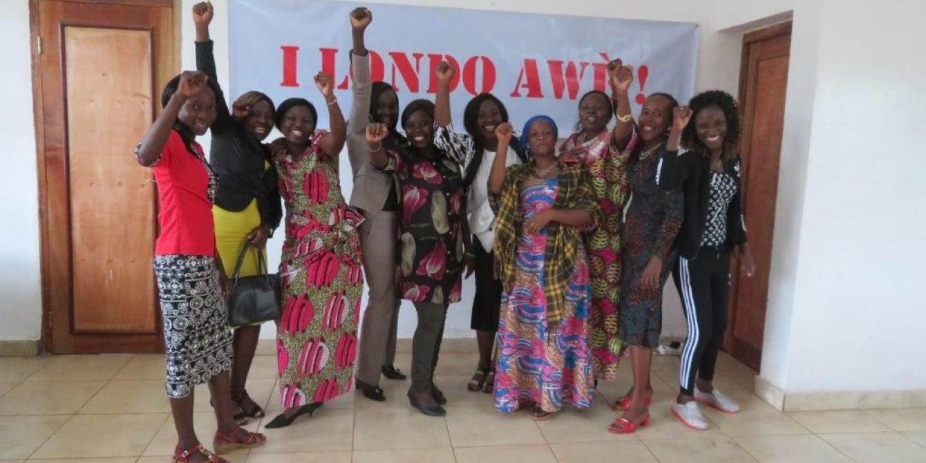 I Londo Awè lors du lancement de leur campagne, en octobre 2019.