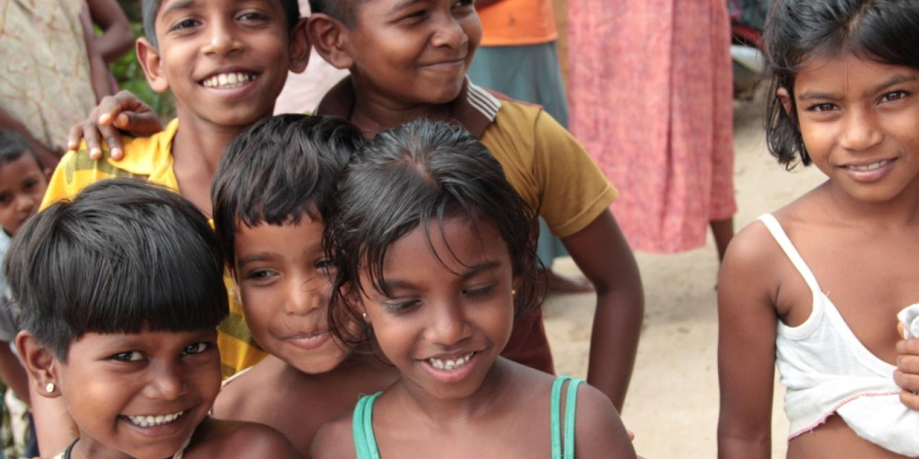 Children at play. Young people from different ethnic groups have been keen to get to know each other. Photograph: Oxfam