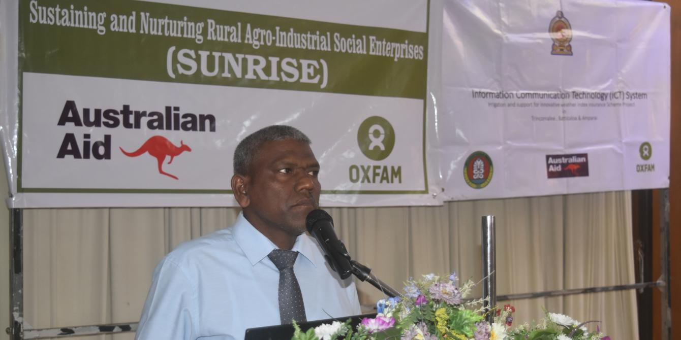 Director of Agriculture speaks on past experiences working with Oxfam