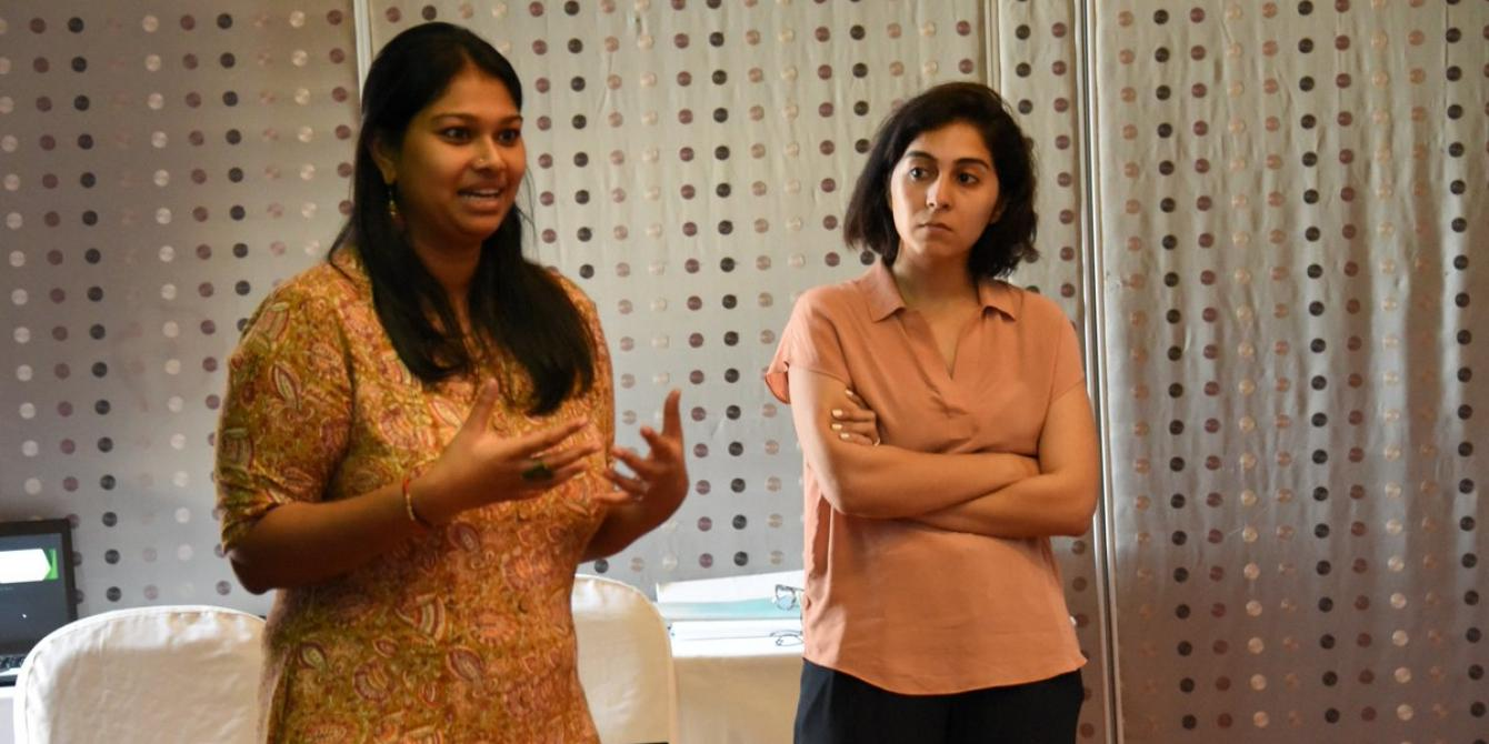 OGB Senior Researcher Anam Parvez and local research consultant, Sharanya Sekeram