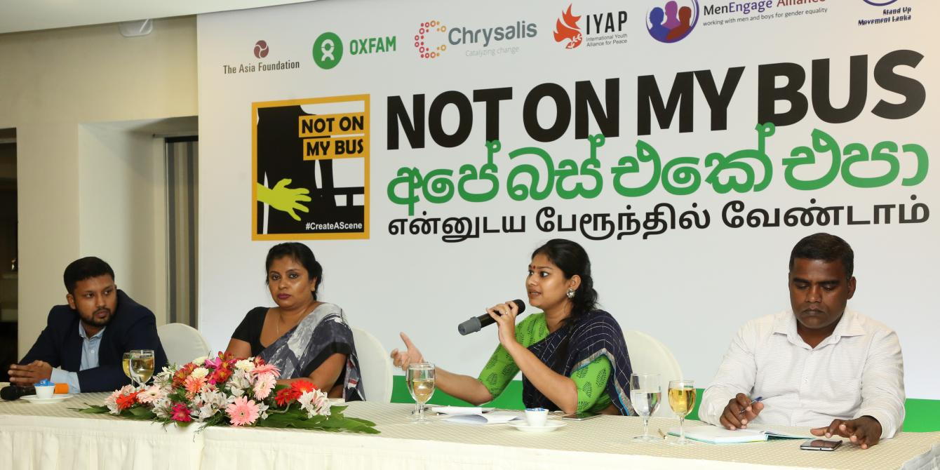 Panelists at the Not On My Bus launch