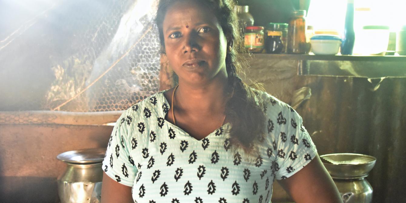 Sri Lankan woman in the kitchen